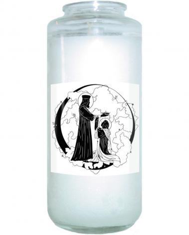 Devotional Candle - Coronation of Mary by D. Paulos