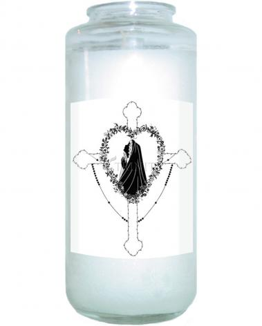 Devotional Candle - Our Lady of the Rosary by D. Paulos