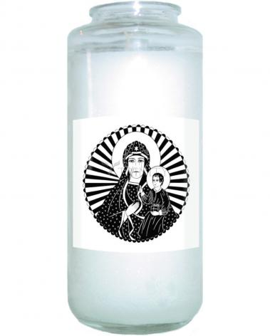Devotional Candle - Mother of Poland by D. Paulos