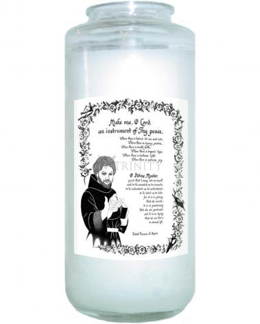 Devotional Candle - Prayer of St. Francis by D. Paulos
