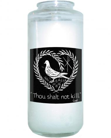 Devotional Candle - Thou Shalt Not Kill by D. Paulos