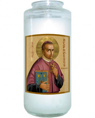 Devotional Candle - St. Alphonsus Liguori by J. Cole
