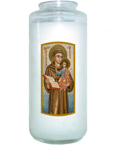 Devotional Candle - St. Anthony of Padua by J. Cole