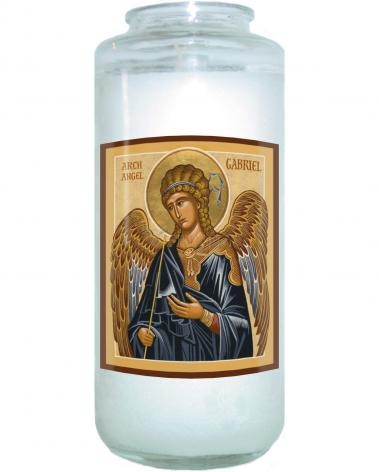 Devotional Candle - St. Gabriel Archangel by J. Cole