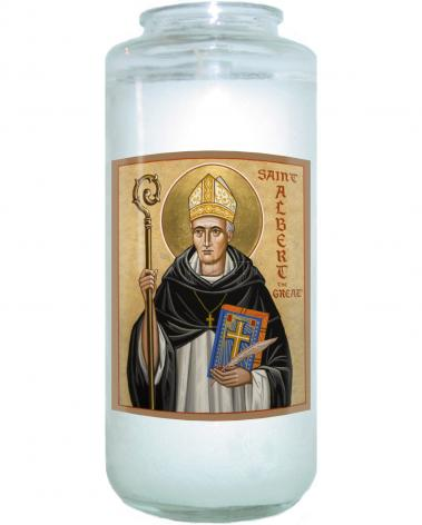 Devotional Candle - St. Albert the Great by J. Cole