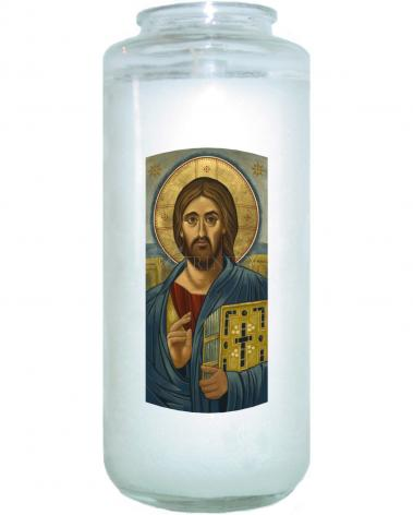 Devotional Candle - Christ Blessing by J. Cole