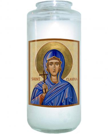Devotional Candle - St. Claudia by J. Cole