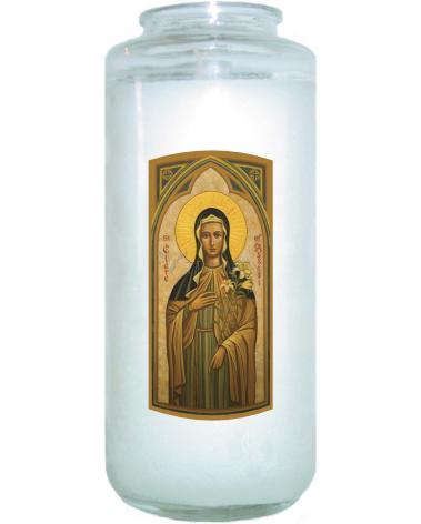 Devotional Candle - St. Clare of Assisi by J. Cole