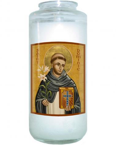 Devotional Candle - St. Dominic by J. Cole