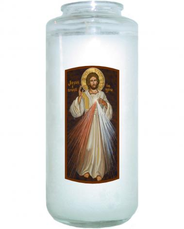 Devotional Candle - Divine Mercy by J. Cole