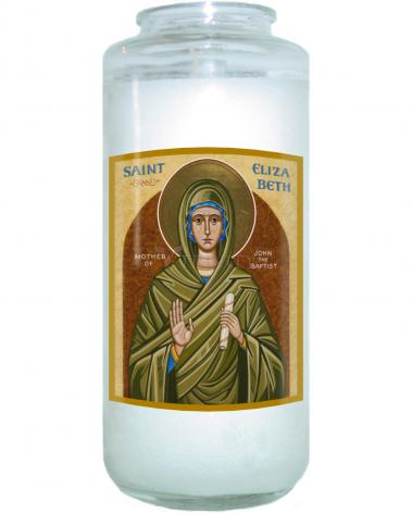 Devotional Candle - St. Elizabeth, Mother of John the Baptizer by J. Cole