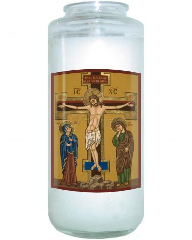 Devotional Candle - Crucifixion by J. Cole