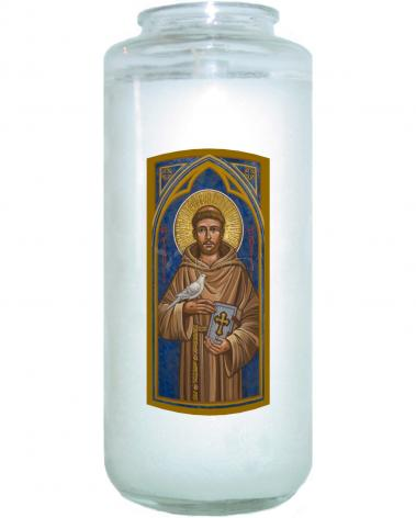 Devotional Candle - St. Francis of Assisi by J. Cole