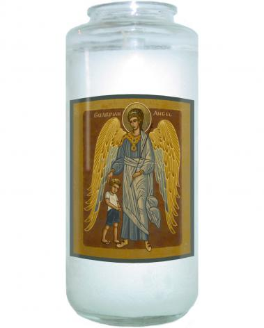 Devotional Candle - Guardian Angel with Boy by J. Cole
