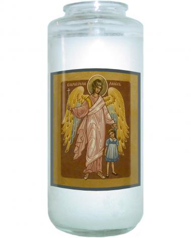 Devotional Candle - Guardian Angel with Girl by J. Cole