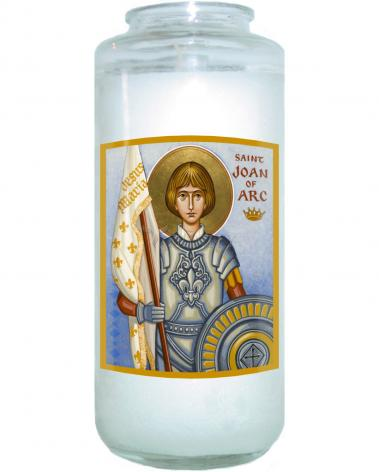 Devotional Candle - St. Joan of Arc by J. Cole