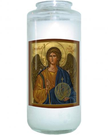 Devotional Candle - St. Michael Archangel by J. Cole