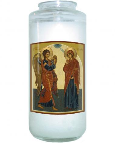 Devotional Candle - Annunciation by J. Cole