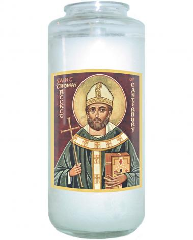 Devotional Candle - St. Thomas Becket by J. Cole