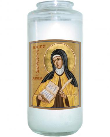 Devotional Candle - St. Teresa of Avila by J. Cole
