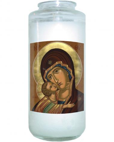 Devotional Candle - Virgin of Vladimir by J. Cole