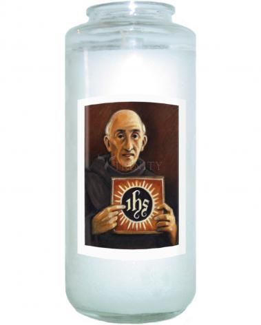 Devotional Candle - St. Bernardine of Siena by J. Lonneman