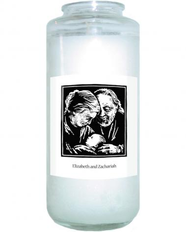 Devotional Candle - St. Elizabeth and Zachariah by J. Lonneman