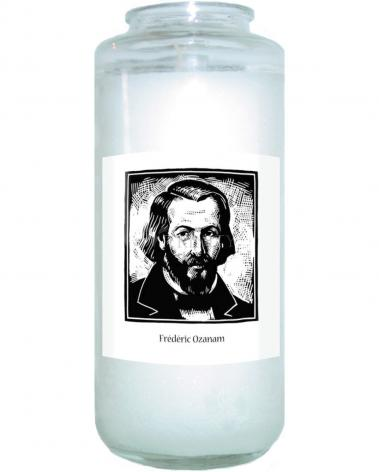 Devotional Candle - Frédéric Ozanam by J. Lonneman