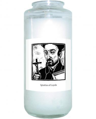 Devotional Candle - St. Ignatius by J. Lonneman