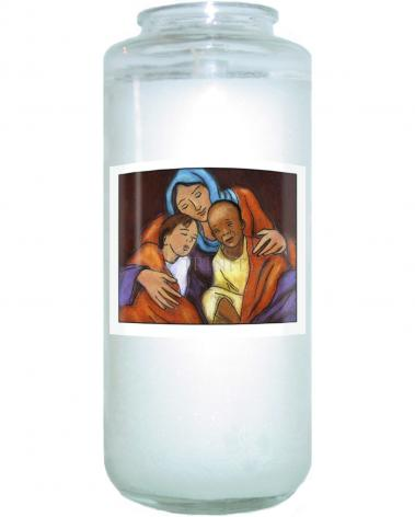 Devotional Candle - Mother of Mercy by J. Lonneman