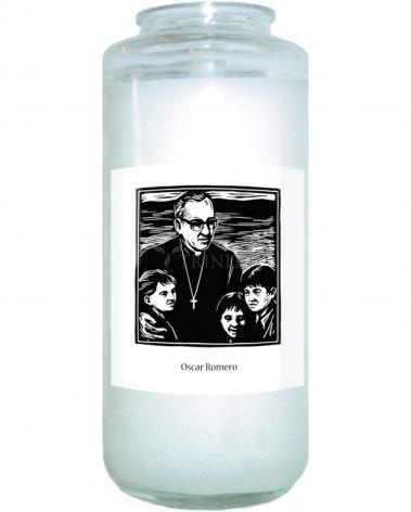Devotional Candle - St. Oscar Romero by J. Lonneman