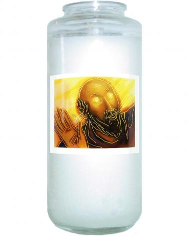 Devotional Candle - Conversion of Saul by J. Lonneman