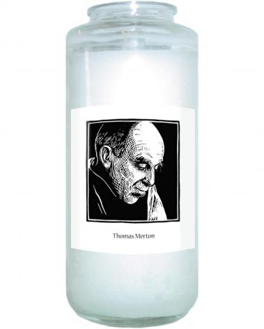 Devotional Candle - Thomas Merton by J. Lonneman