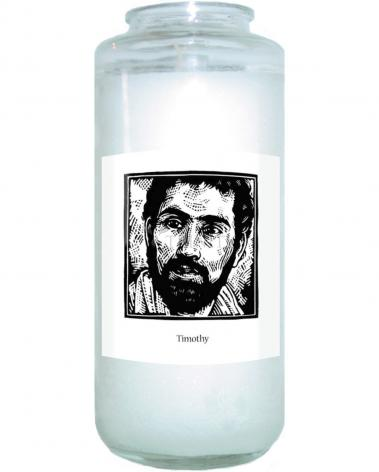 Devotional Candle - St. Timothy by J. Lonneman