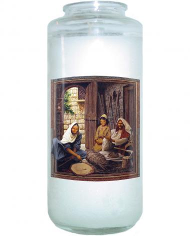 Devotional Candle - Holy Family by L. Glanzman
