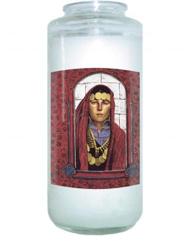 Devotional Candle - St. Mary Magdalene  by L. Glanzman