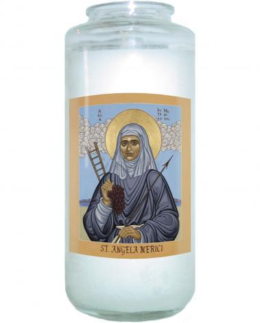 Devotional Candle - St. Angela Merici by L. Williams
