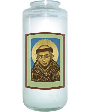 Devotional Candle - St. Francis of Assisi by L. Williams