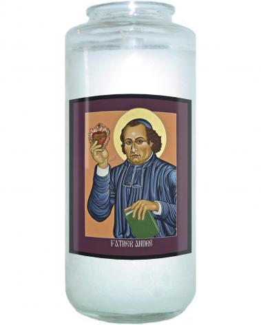 Devotional Candle - Fr. Andre' Coindre by L. Williams