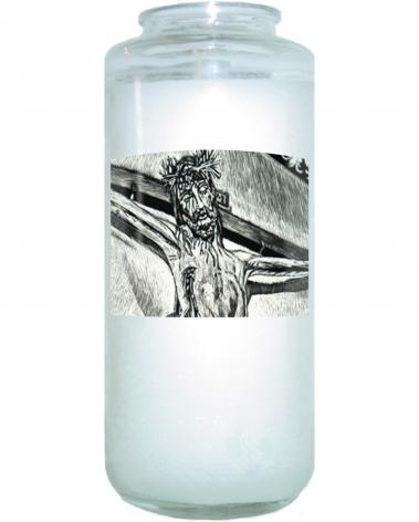 "Devotional Candle - Crucifix, Coricancha Peru: ""I Thirst"" by L. Williams"