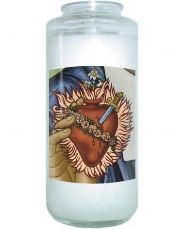 Devotional Candle - Immaculate Heart of Mary by L. Williams