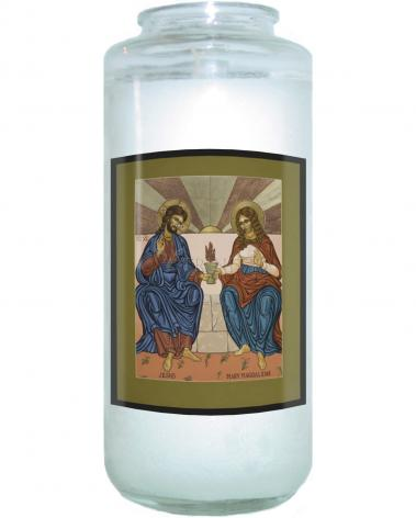 Devotional Candle - Jesus and Mary Magdalene by L. Williams