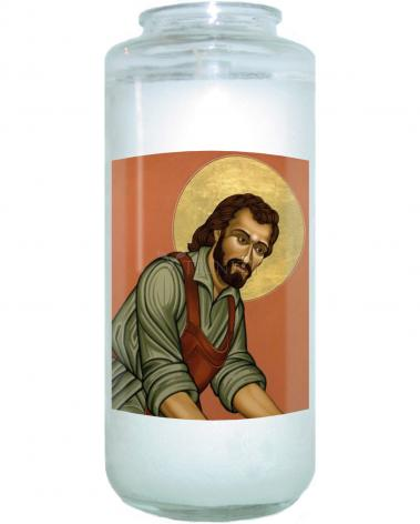 Devotional Candle - St. Joseph the Worker by L. Williams