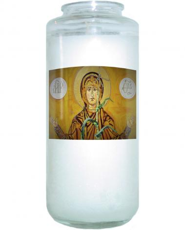 Devotional Candle - Our Lady of the Harvest by L. Williams