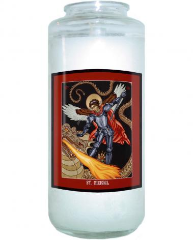 Devotional Candle - St. Michael Archangel by L. Williams