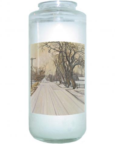 Devotional Candle - Christmas Scene: Montrose, CO by L. Williams