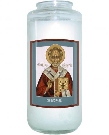 Devotional Candle - St. Nicholas by L. Williams