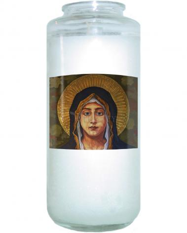 Devotional Candle - Annunciation by L. Williams
