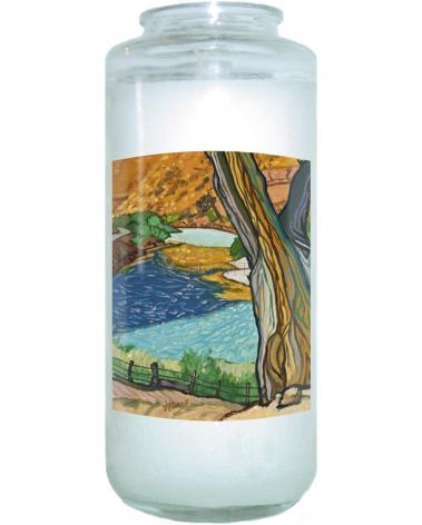 Devotional Candle - Tree In Eden by L. Williams