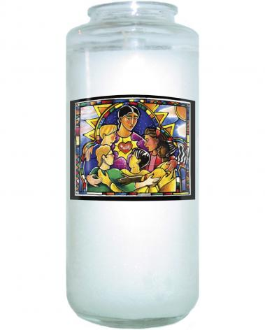 Devotional Candle - All Are Welcome by M. McGrath